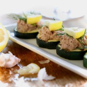 Bild der fertigen Zucchini-Kanapees